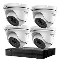 Hikvision Turbo HD camerabeveiliging set met 4 EXIR dome indoor /outdoor beveiligingscamera's.