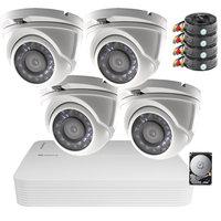 Camerabewaking set Safire FULL HD met 4 vandaalbestendige dome camera's.