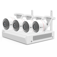 EZVIZ by Hikvision Draadloos camerasysteem 4 IP Camera, NVR met WIFI, microfoon en speaker.